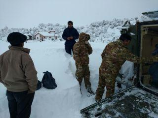 Fuertes nevadas en la Patagonia