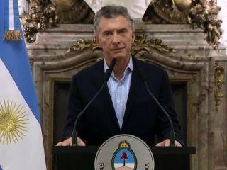 Macri pide apoyo al FMI