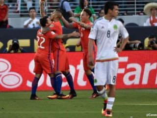 Chile bail� a M�xico 7 a 0