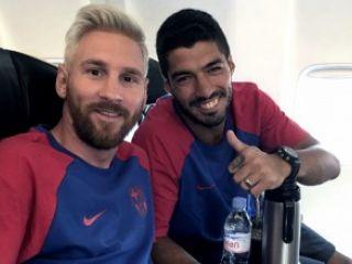 Messi se reincorpor� al club con nuevo look
