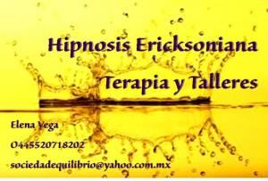 Hipnosis Ericksoniana, terapia y talleres