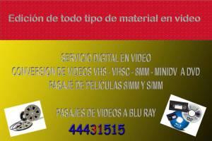 EDICION de videos, EDICION de fotos DIGITAL