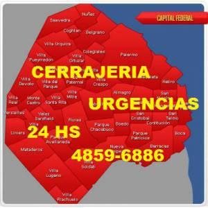 cerrajero en balvanera 24 hs (48596886) urgente