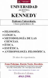Métodos de la investigación. U. Kennedy. 49632508. Profesora. Barrio Norte. Amplia experiencia con alumnos de la Universidad J.F. Kennedy.