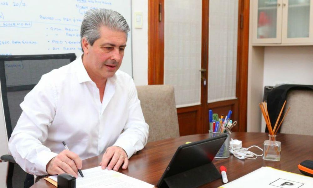Javier Martínez en videoconferencia