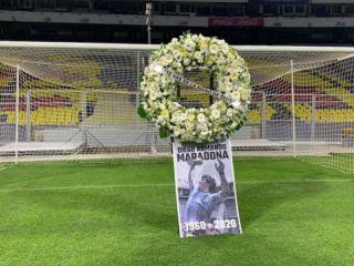 México homenajeó a Maradona en el arco de los dos goles a Inglaterra