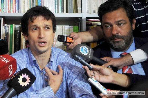 Diego Lagomarsino en la conferencia de prensa