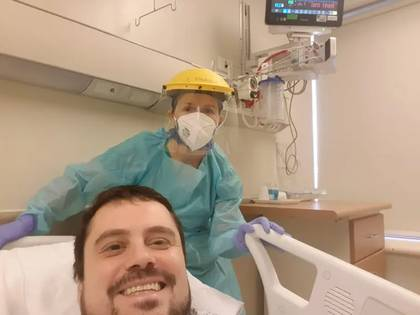 El primer recuperado del coronavirus con el método Maiztegui