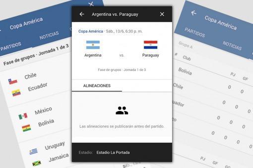 App para seguir la Copa América