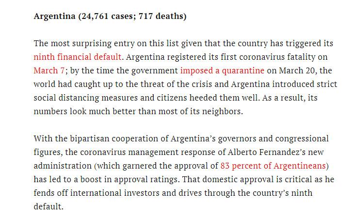 La revista Time destaca el éxito de Argentina para enfrentar la pandemia
