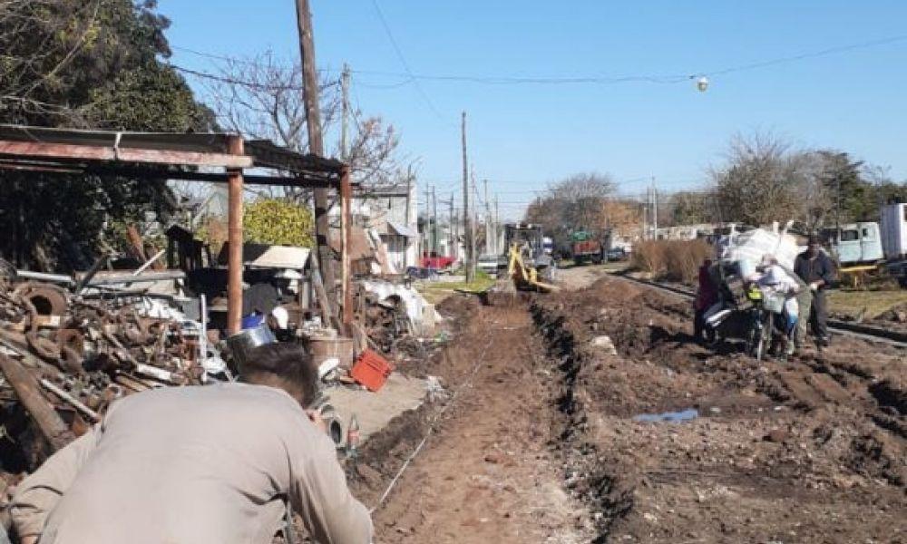 Trabajos de bacheo y estabilización de calles