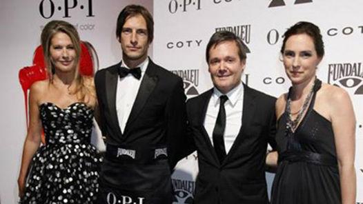 Fernando Farré con modelos famosos