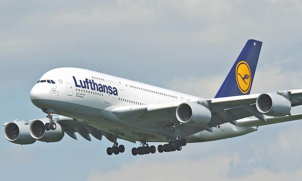 Llega hoy un vuelo de Lufthansa