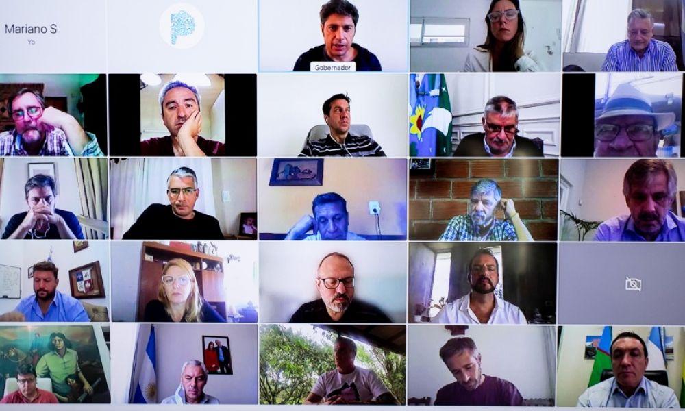 Videoconferencia con intendentes
