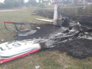 Dos personas murieron al caer una avión en el aeródromo de General Rodríguez