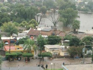 Fuerte temporal de lluvia en Córdoba