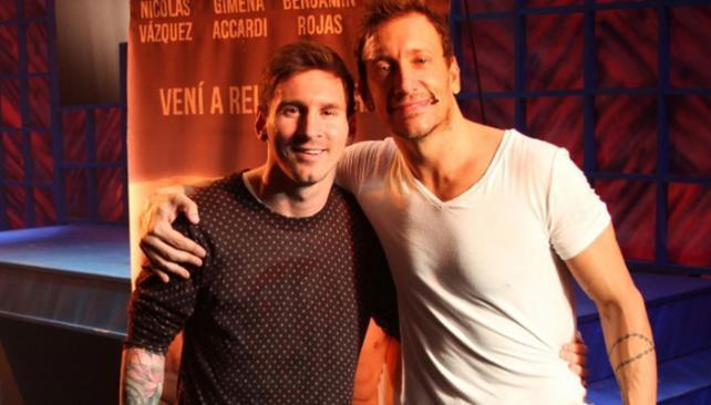 Messi y Nicolás Vázquez