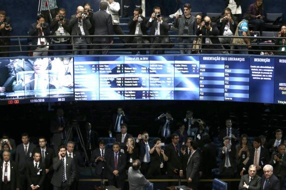 El Senado votó el juicio político a Dilma