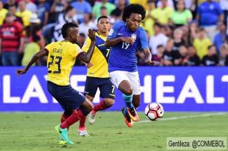 Vibrante empate entre Brasil y Ecuador