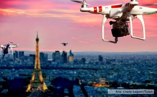 Drones en París