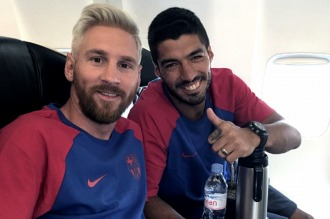 Messi se reincorporó al club con nuevo look
