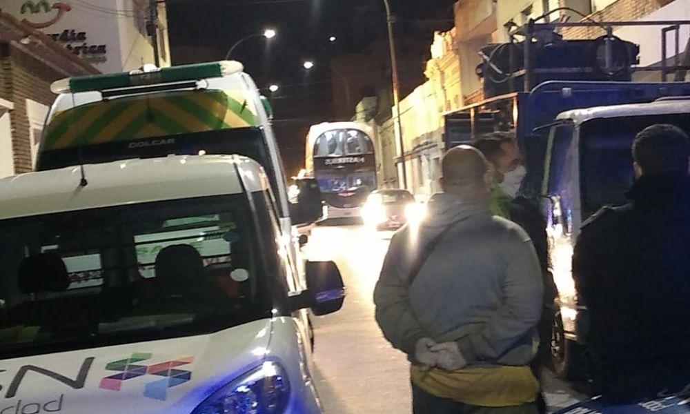 Llegada de los trabajadores a San Nicolás