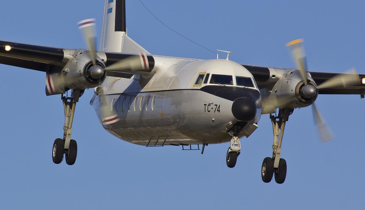 Se despide el último Fokker 27 de la Fuerza Aérea Argentina