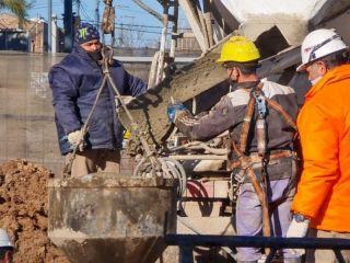 Pergamino: Avanza a buen ritmo la obra del puente de Av. Colón
