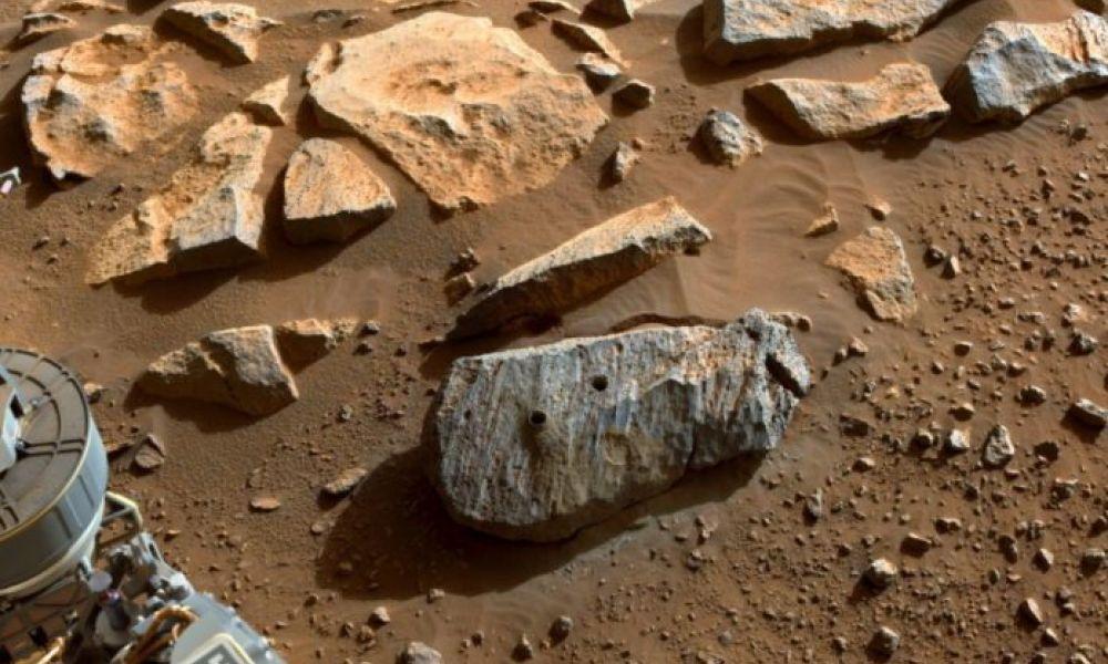 Muestras de roca de Marte