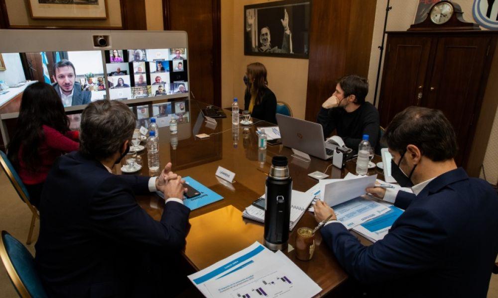 Axel Kicillof en videoconferencia