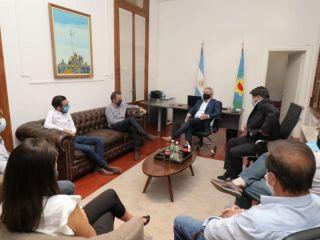 Pergamino: Martínez recibió a Katopodis y a Simone