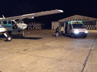 Operativo en el Aeródromo Pergamino para realizar una ablación de órganos en San Nicolás