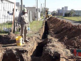 Pergamino: Amplían la red cloacal en el barrio Villa San José
