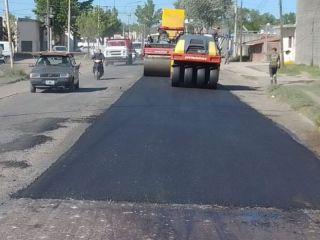 Pergamino: Empezó la pavimentación de Barrancas del Paraná