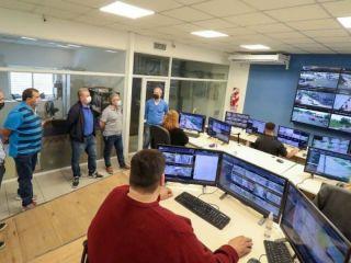 Gerardo Milman visitó el Centro de Monitoreo de Pergamino