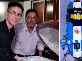 Habló el empleado de la funeraria tras la viralización de la foto con Maradona