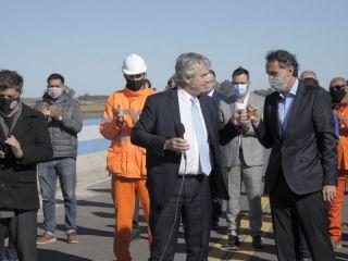 Alberto Fernández inaugura el tramo Pergamino de la Autopista