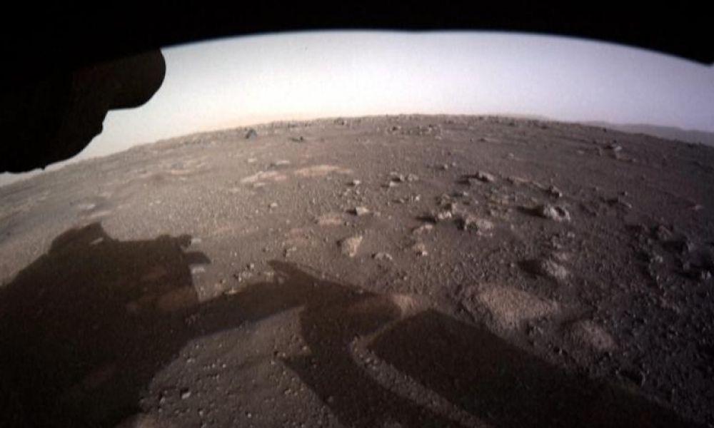 Primera foto de Perseverance en Marte