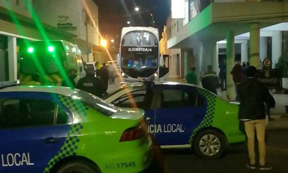 Despliegue policial en Hotel Yaguarón